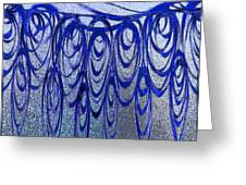 Blue And Black Swirl Abstract Greeting Card
