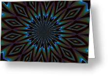 Blue And Brown Floral Abstract Greeting Card