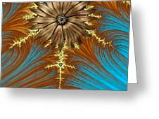 Blue And Brown Synergy Greeting Card