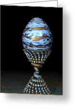 Blue And Golden Egg Greeting Card