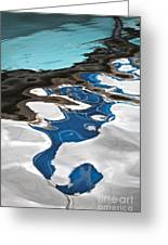 Blue And Green Baltic Sea - Abstract. Greeting Card