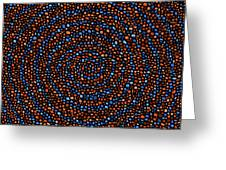 Blue And Orange Circles Greeting Card