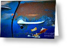 Blue And Rusty Picking Greeting Card