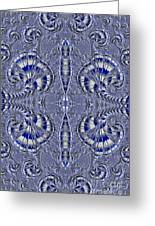 Blue And Silver 2 Greeting Card