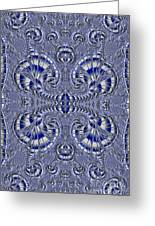Blue And Silver 3 Greeting Card
