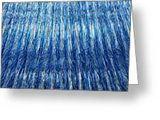 Blue And Silver Plastic Abstract Greeting Card