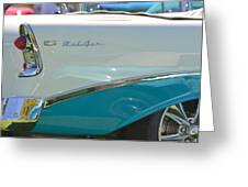 Blue And White Bel Air Convertable Greeting Card