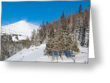 Blue And White Colorado Winter Greeting Card