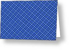 Blue And White Diagonal Plaid Pattern Cloth Background Greeting Card