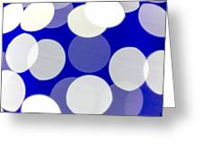 Blue And White Light Greeting Card