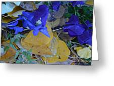 Blue And Yellow Not Making Green Greeting Card