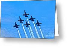 Blue Angel Team Greeting Card