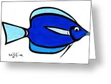 Blue Angele Greeting Card