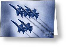 Blue Angels Fa 18 V19 Greeting Card