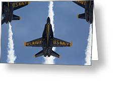 Blue Angels Overhead Break  Greeting Card