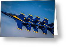 Blue Angels Single File Greeting Card