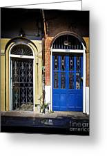 Blue Arch Door Greeting Card