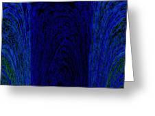 Blue Archways Greeting Card