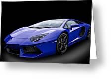 Blue Aventador Greeting Card