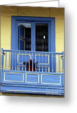 Blue Balcony In Sopo Greeting Card