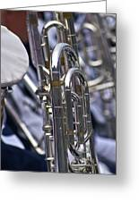 Blue Band Brass Greeting Card