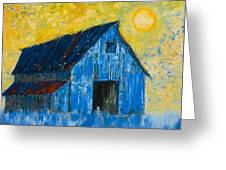 Blue Barn Number One Greeting Card
