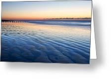 Blue Beach Greeting Card