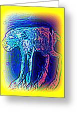 The Blue Beast Inside Of Me Is Waiting For You  Greeting Card