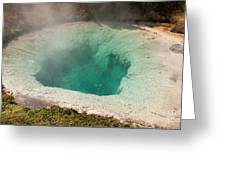 Blue Bell Pool In West Thumb Geyser Basin In Yellowstone National Park Greeting Card