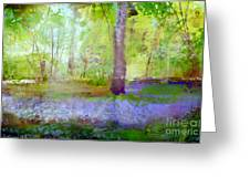 Blue Bells In The Wood Painting Number 1 Greeting Card