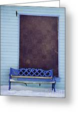 Blue Bench Greeting Card