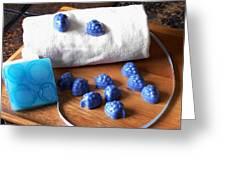 Blue Berries Mini Soaps Greeting Card