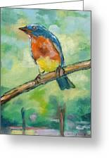 Blue Bird 2 Greeting Card