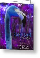 Blue Bird Of Paradise - The Fuzz Greeting Card