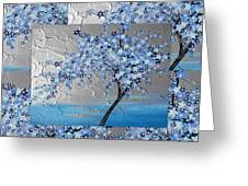 Blue Blossom Tree Greeting Card