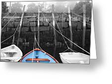Blue Boat Greeting Card