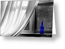 Blue Bottle Greeting Card by Diane Diederich