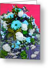 Blue Bouquet Greeting Card