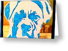 Blue Boxer Greeting Card by Ashley Reign