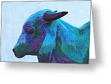 Blue Brahma Greeting Card