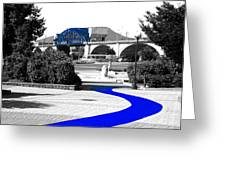 Blue Brick Path Greeting Card by   Joe Beasley