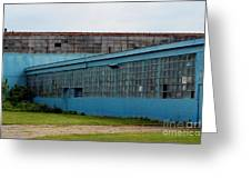 Blue Building In Delaware Ohio Greeting Card