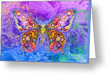 Blue Butterfly Floral Greeting Card