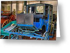 Blue Carriage Greeting Card