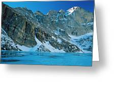 Blue Chasm Greeting Card by Eric Glaser