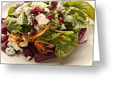 Blue Cheese Salad Greeting Card