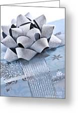 Blue Christmas Gift Greeting Card by Elena Elisseeva