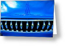 Blue Chrome Grill Greeting Card by Phil 'motography' Clark
