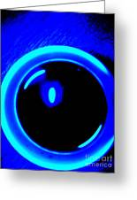 Blue Circle Greeting Card
