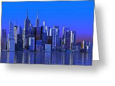 Chicago Blue City Greeting Card